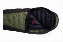 Péřový spacák Warmpeace Viking 600 olive / grey / black
