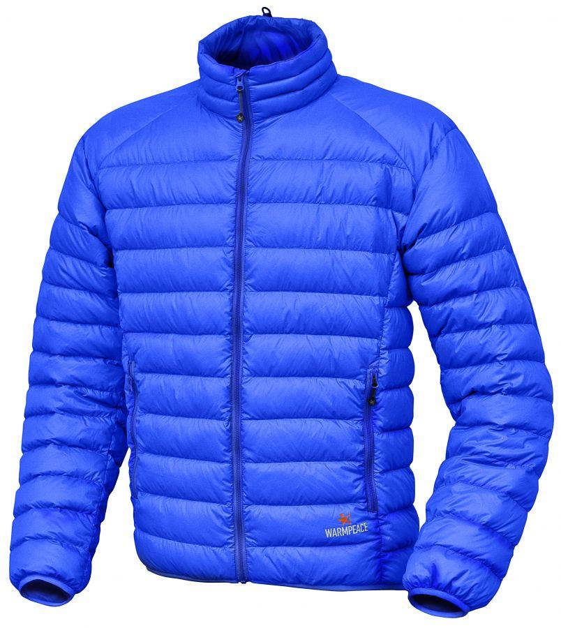 Warmpeace Drake péřová bunda ultramarine