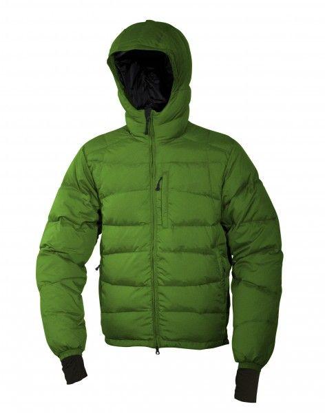 Warmpeace Ascent bunda péřová z materiálu Nylon DWR zelená