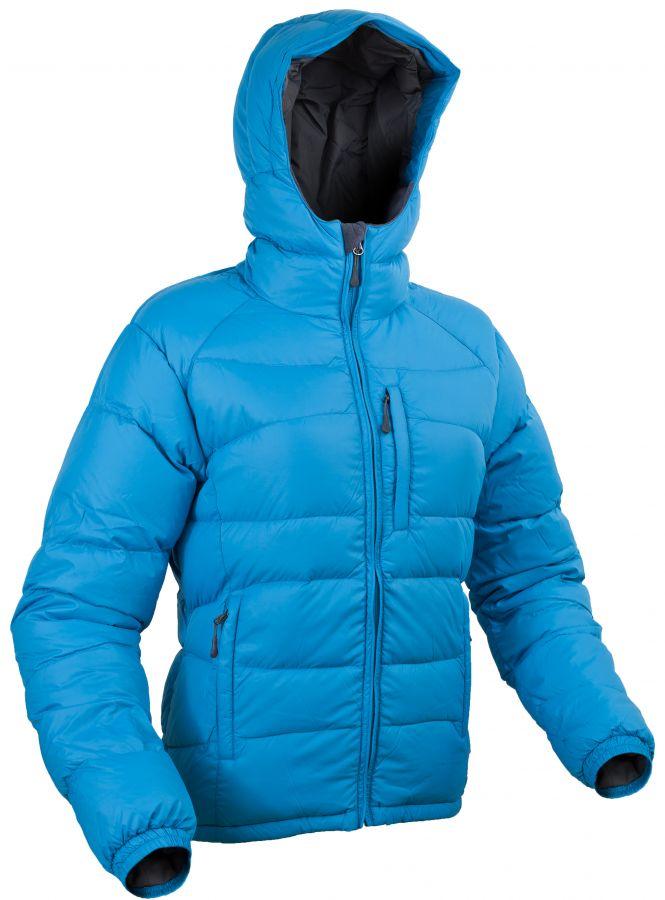 Warmpeace Rasta lady péřová bunda Bay blue - modrá