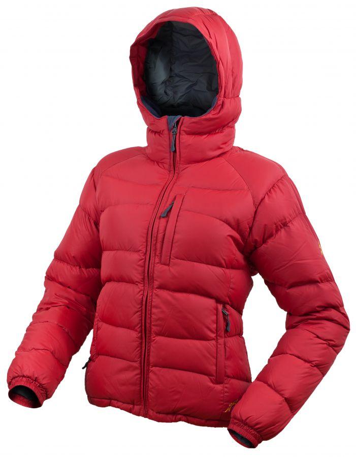 Warmpeace Rasta lady péřová bunda Formula red - červená