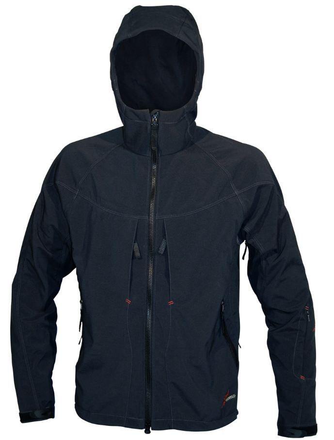 Pánská softshellová bunda Warmpeace Foggy Antracit / grey