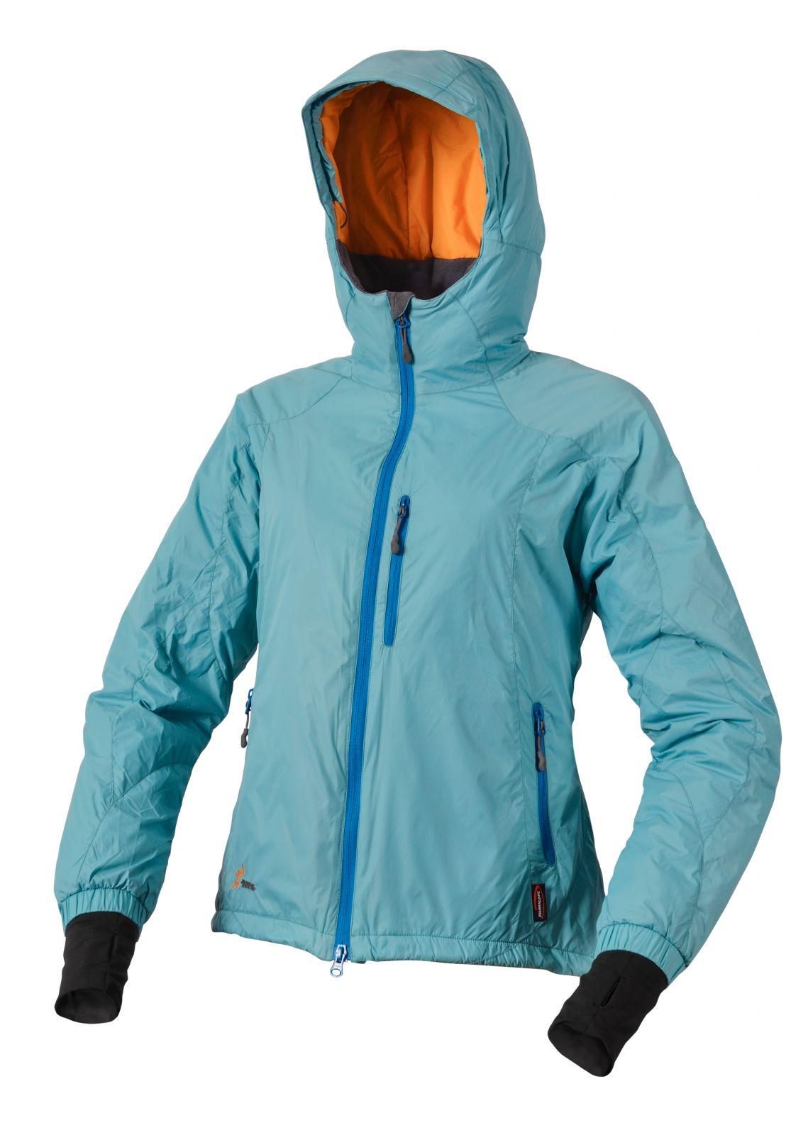 Warmpeace Breeze lady river blue dámské ultralehká zimní bunda