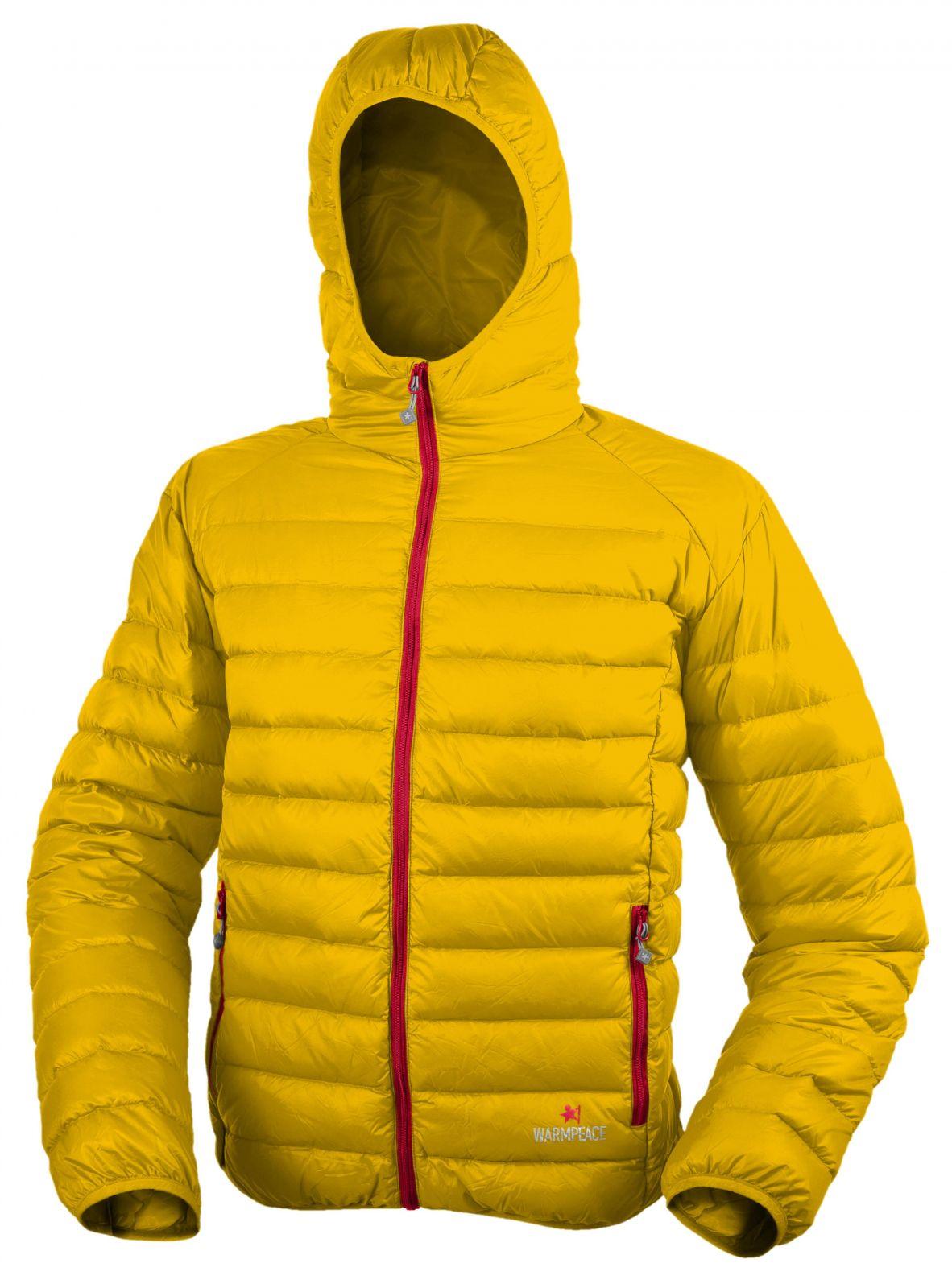 Warmpeace Nordvik lemon / red péřová bunda