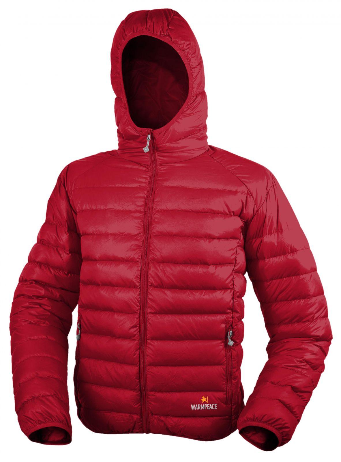 Warmpeace Nordvik red péřová bunda