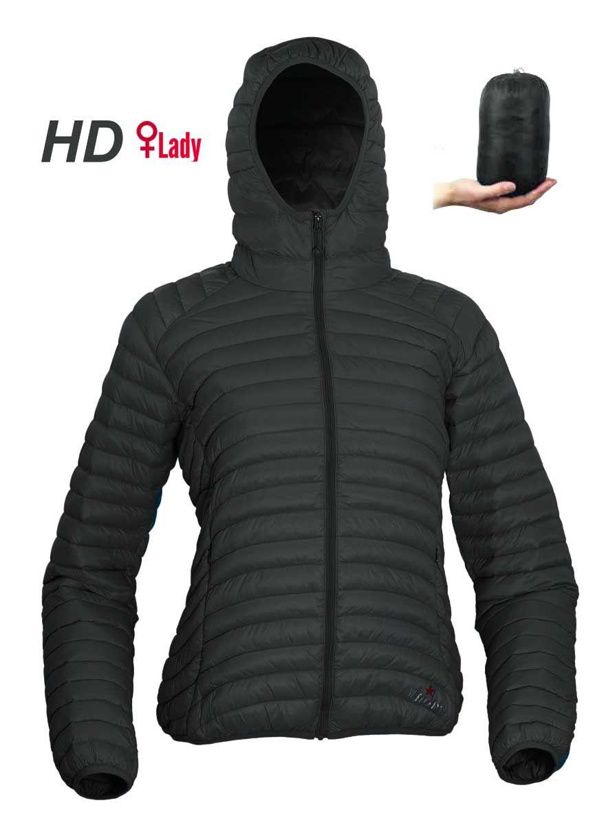 Warmpeace Vikina lady HD black dámská péřová bunda