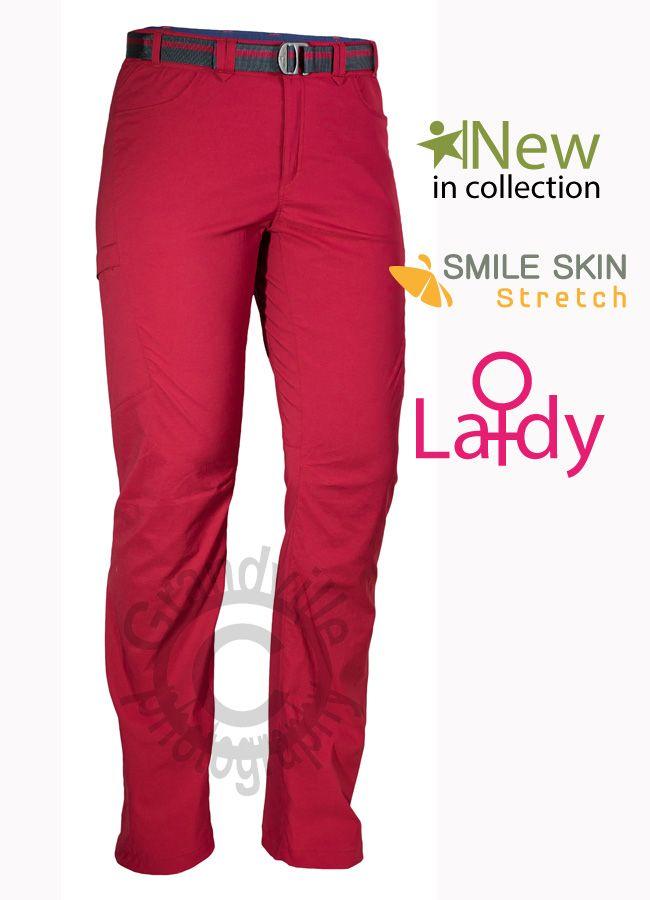 Warmpeace Comet Lady Rose Red Dámské lehké kalhoty
