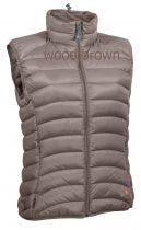 Warmpeace Swan lady péřová vesta wood brownl