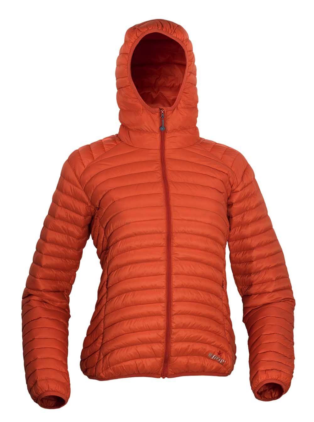 Warmpeace Vikina lady HD orange dámská péřová bunda